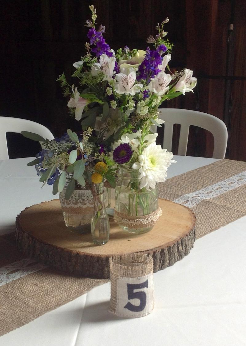 Round wood centerpieces wedding tips and inspiration